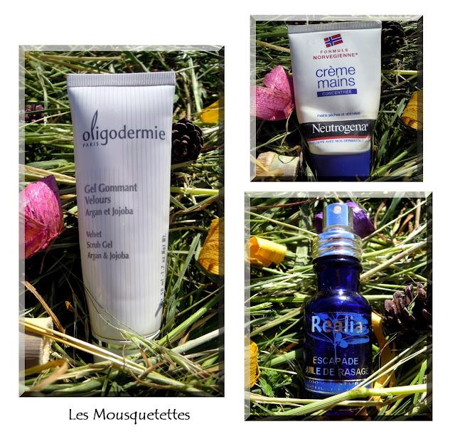 Produits terminés : Oligodermie, Neutrogena, Réalia - Les Mousquetettes©