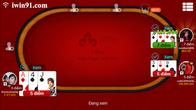 huong dan choi lieng trong game iwin