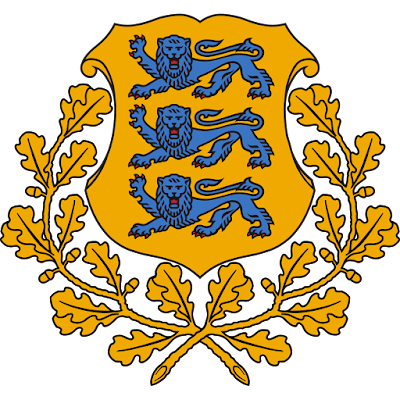 Coat of arms - Flags - Emblem - Logo Gambar Lambang, Simbol, Bendera Negara Estonia
