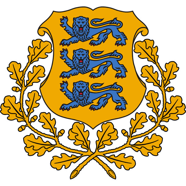 Logo Gambar Lambang Simbol Negara Estonia PNG JPG ukuran 600 px
