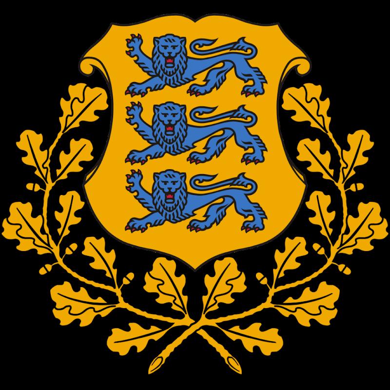 Logo Gambar Lambang Simbol Negara Estonia PNG JPG ukuran 800 px