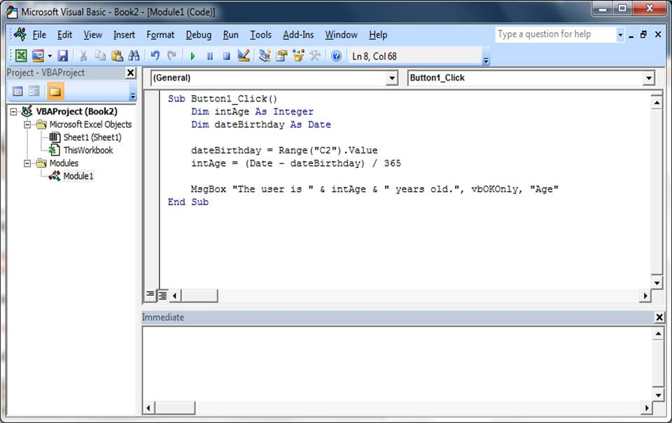 Visual basic calculator: 8 steps.