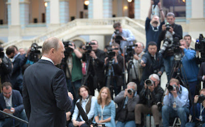 President Putin answers to journalists' questions following Direct Line 2017.
