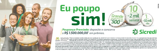 "Sicredi lança campanha ""Eu poupo sim!"""