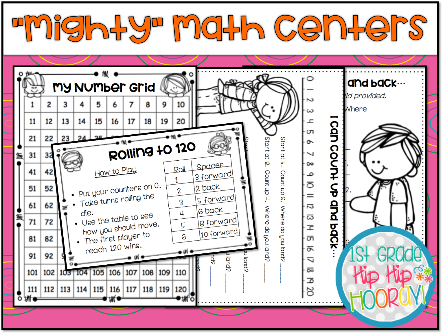 1st Grade Hip Hip Hooray Mighty Math Centers For