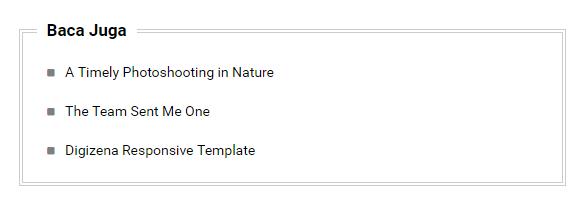 Contoh tampilan widget Artikel Terkait Style 2