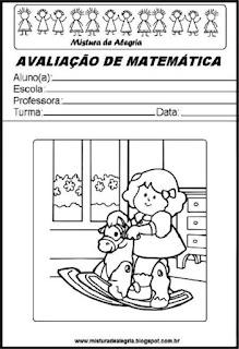 Capa para avaliação de matemática