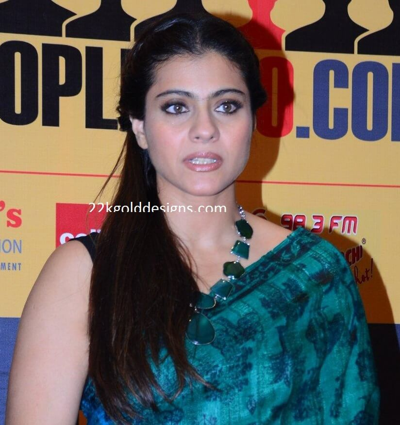 Kajol in Emerald Necklace