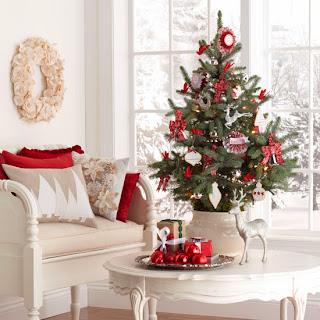 Decoración de sala navideña