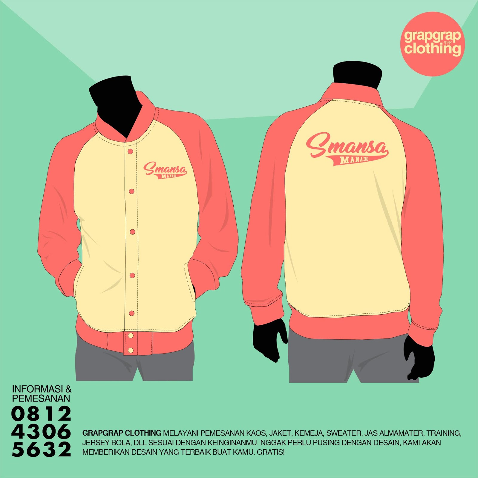 Beking Sweater / Jacket Murah di Manado Model Raglan