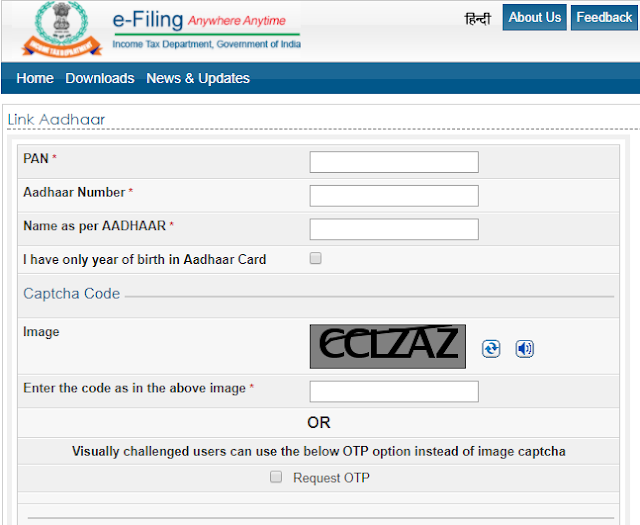 how to link aadhaar with pan card online