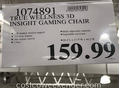 Deal for the DPS 3D Insight Gaming Chair at Costco