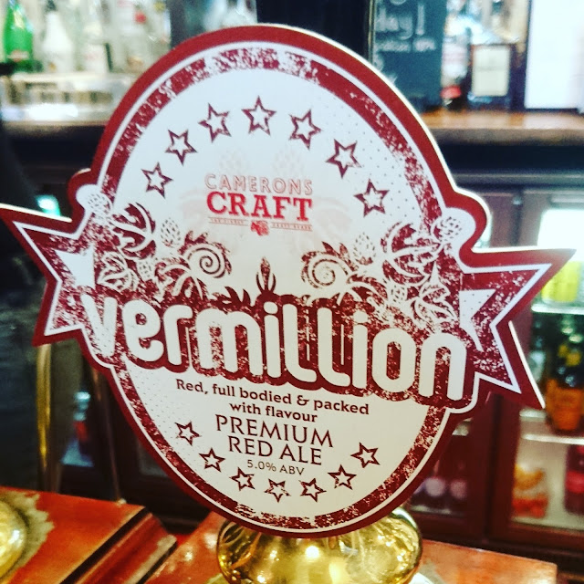 County Durham Craft Beer Review: Vermillion from Camerons real ale pump clip