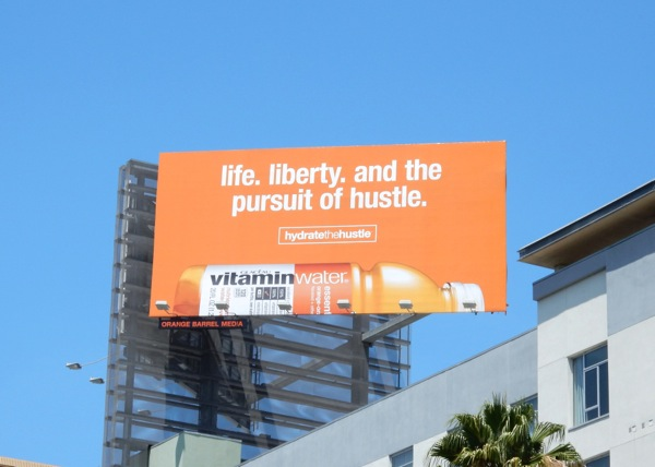 Vitamin Water Hydrate the Hustle billboard