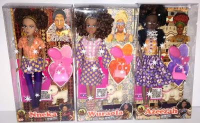 Куклы африканки, представляющие культуру Нигерии