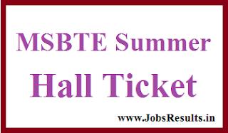 MSBTE Summer Hall Ticket