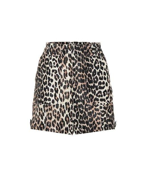 GANNI  Shorts aus Leinen und Seide