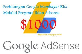 Perhitungan Pembayaran Google Adsense