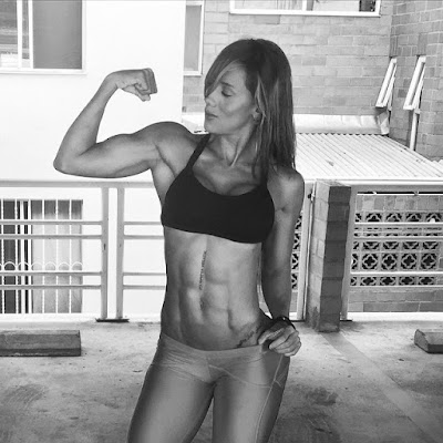flexing woman fitness