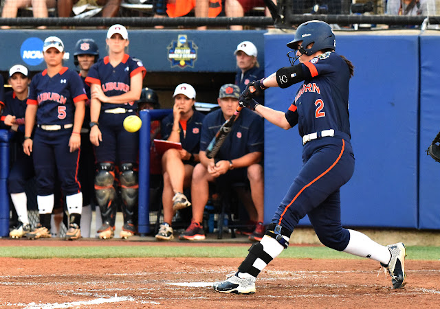 Auburn's Haley Fagan at bat in Oklahoma City, WCWS