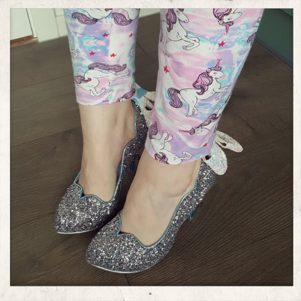 wearing irregular choice sparkling slipper disney cinderella shoes