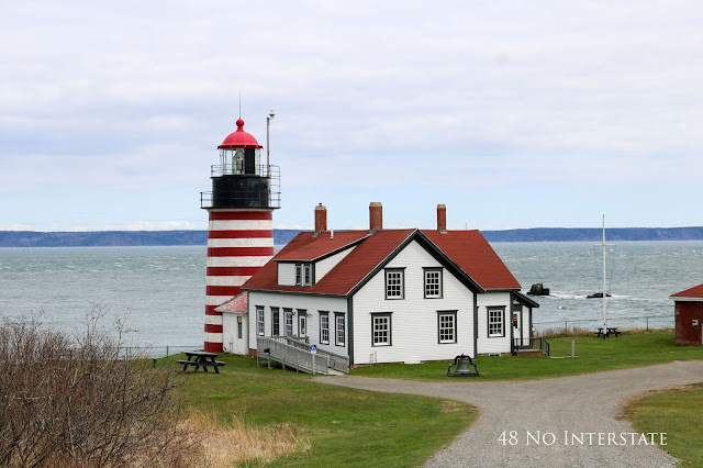 48 No Interstate back roads cross country coast-to-coast road trip West Quoddy Head light Lubec Maine easternmost lighthouse USA