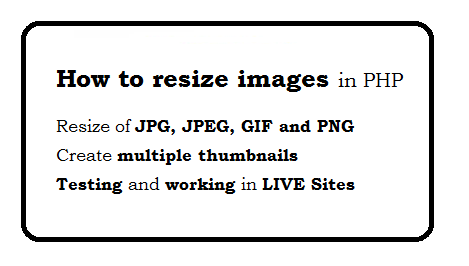 How to resize images in php - with code