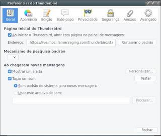 Thunderbird poderoso programa de e-mail