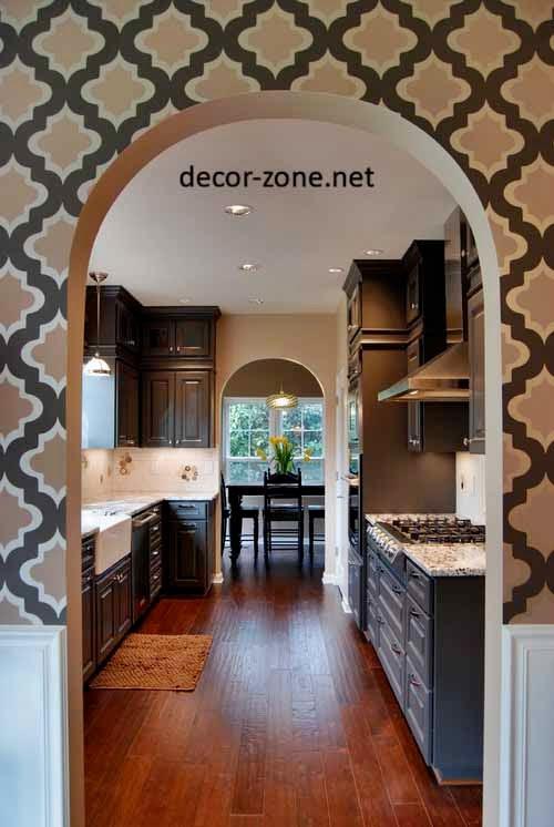creative kitchen wallpaper ideas, designs, patterns