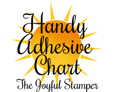 adhesive chart from nicole steele the joyful stamper independent stampin' up! demonstrator