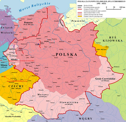 kingdom of Poland map