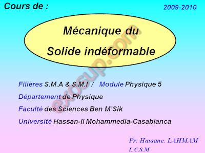 Cours Mécanique du Solide fsbm