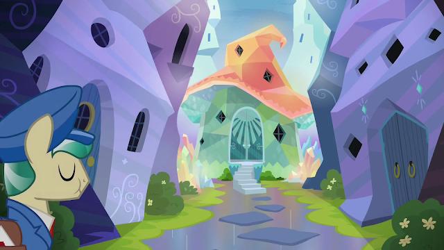 Sunburst's house is part hat part shroom.