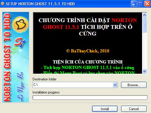Ghost máy nhanh chóng không cần dùng đĩa Hiren's Boot hoặc USB