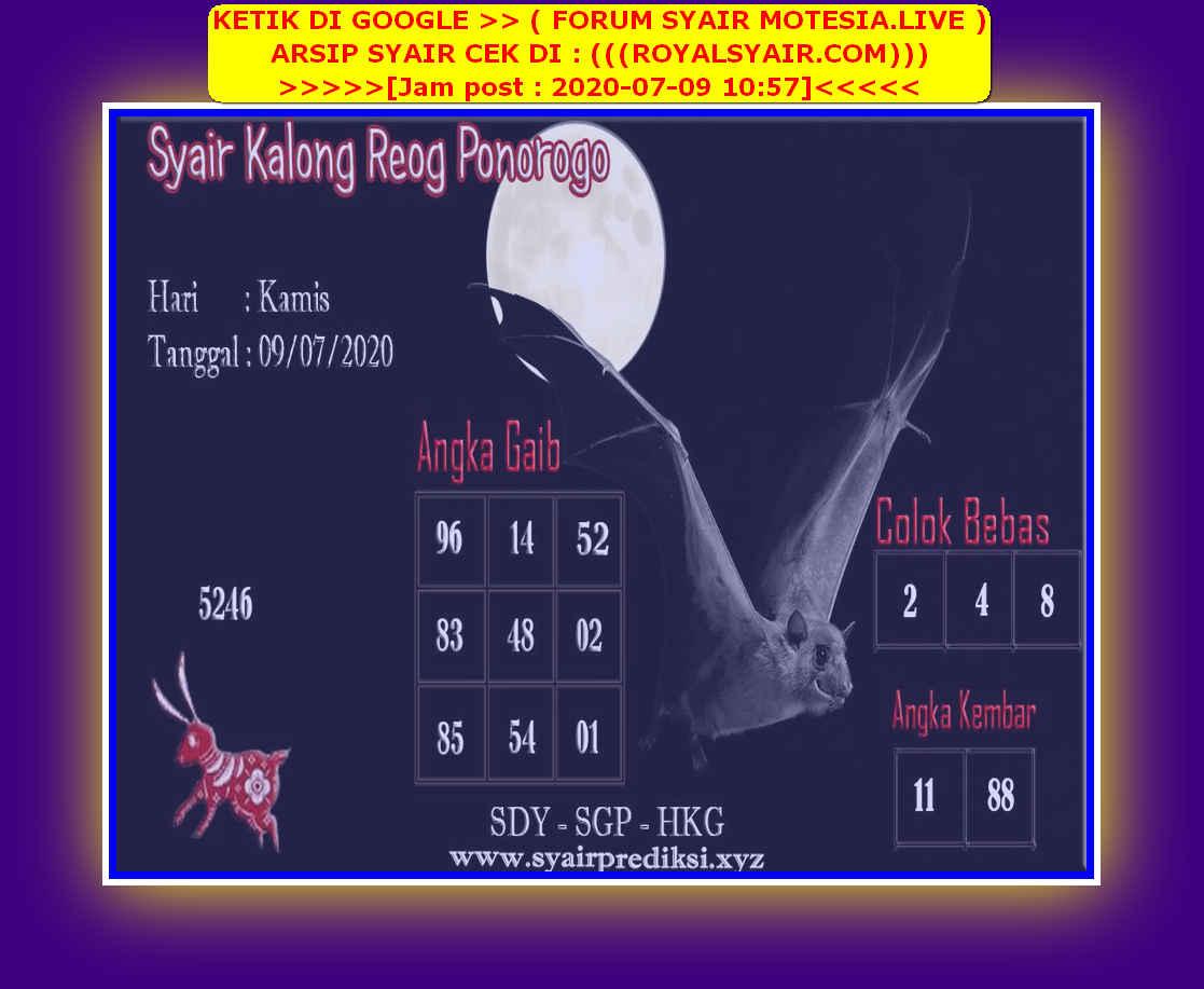 Kode syair Singapore Kamis 9 Juli 2020 83