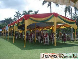 Sewa Tenda Semi Dekor - Penyewaan Tenda Semi Dekor Pernikahan