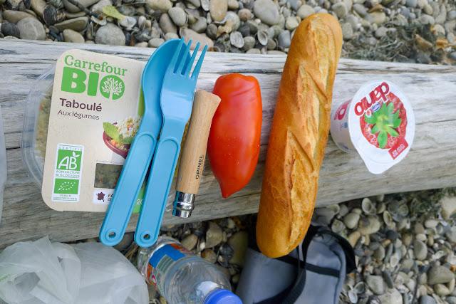 De Paris à Narbonne en vélo, casse-croûte
