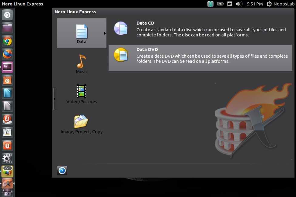 Nero CD Burner for Ubuntu 12 10/12 04/11 10/Linux Mint