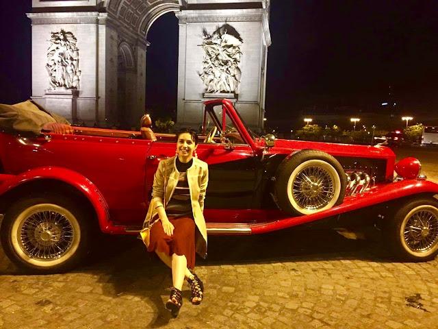 Париж, прогулка по Парижу, аренда ретро автомобиля в Париже, туризм, Анна Мелкумян, блог о путешествии, travel blog, blogger, fashion blog, Anna Melkumian, Paris, ночной Париж
