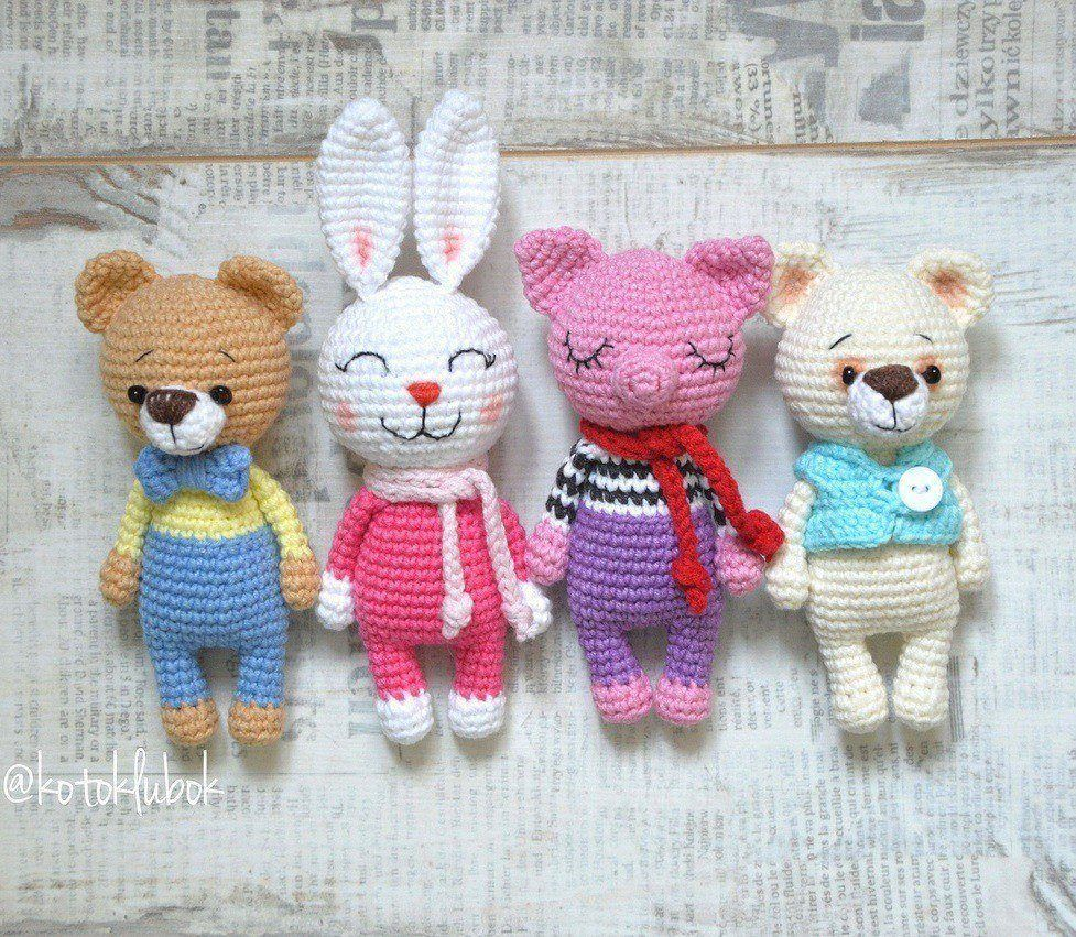 Crochet toys animals amigurumi