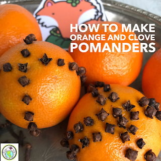 Orange and clove pomanders for world language class