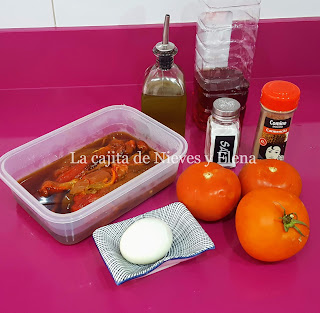 Ingredientes Asadillo manchego
