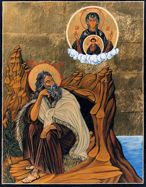 Santo Elias primeiro devoto de Nossa Senhora no Monte Carmelo