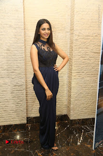 Actress Rakul Preet Singh Stills in Beautiful Blue Long Dress at Dhruva Salute to Audience Event  0113.JPG