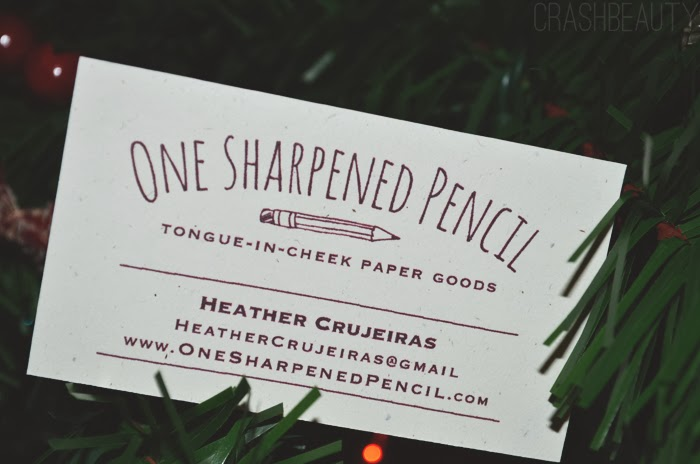 One sharpened pencil business card for the holiday