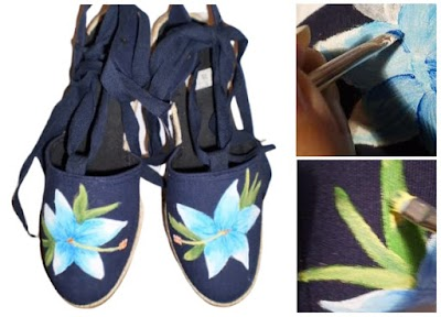 Como pintar a mano Zapatillas de Lona