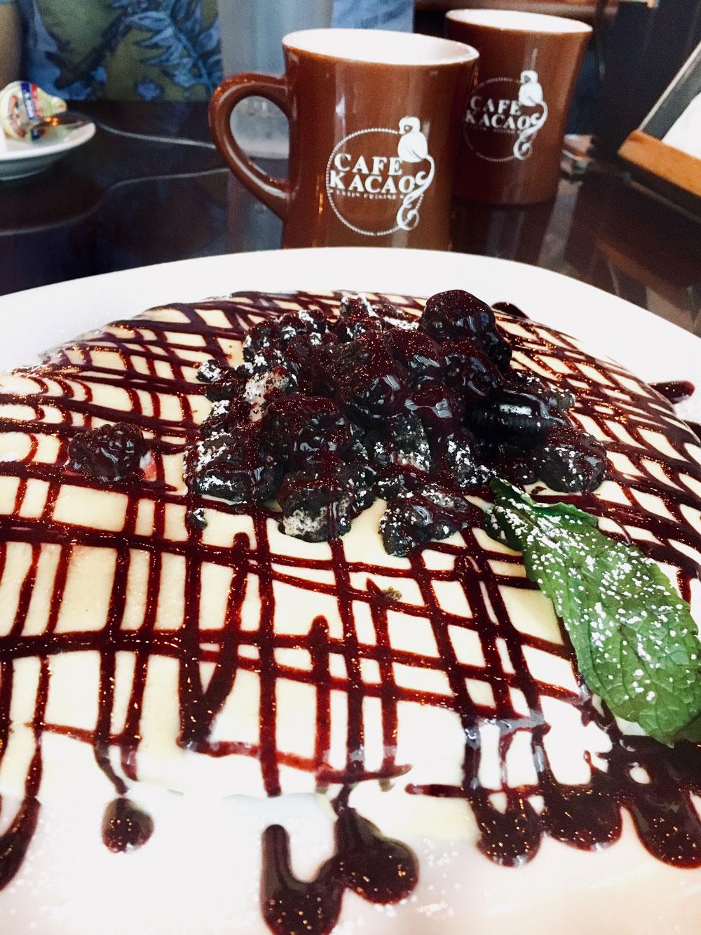 cafe kacao nutella pancakes