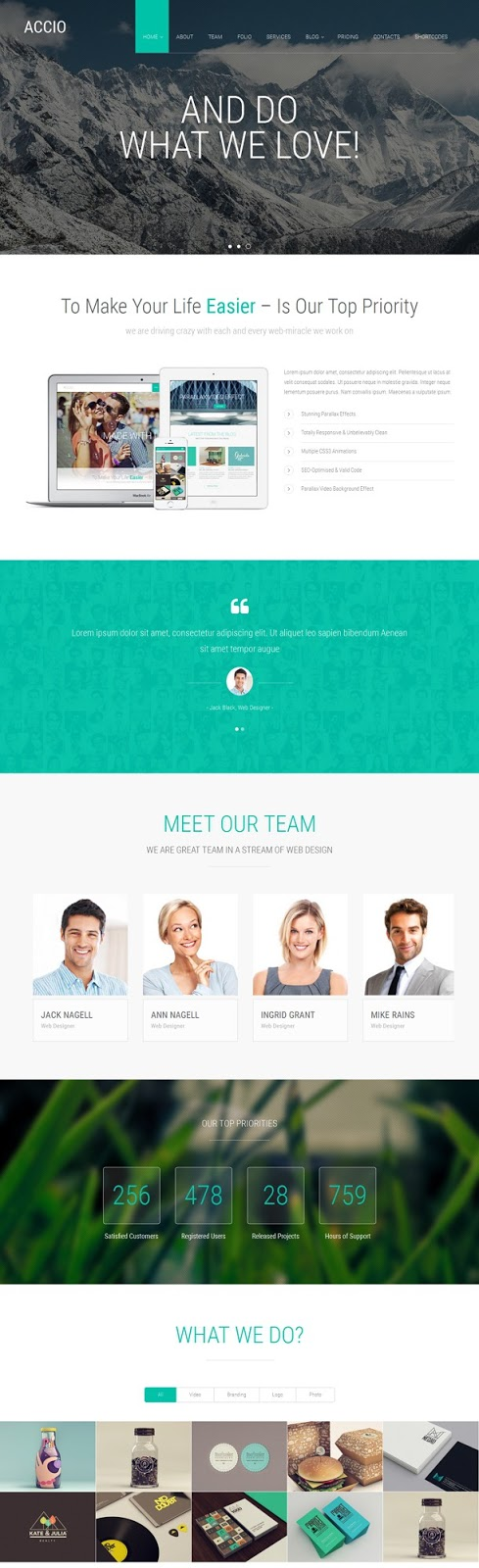 Responsive One Page Joomla Template