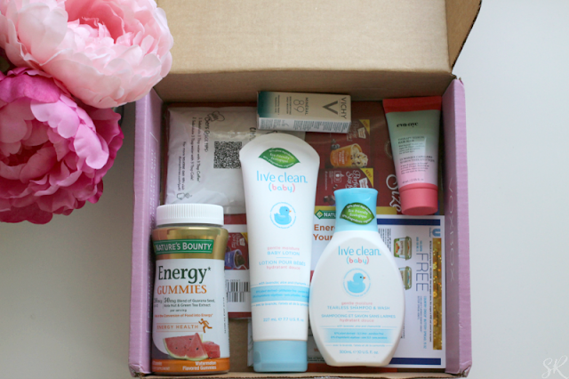 an inside look of a box of freebies