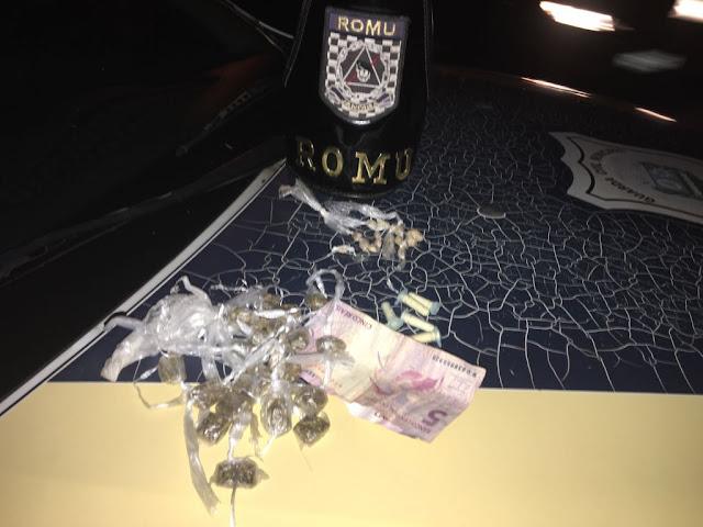 ROMU Jandira - Flagrante de tráfico de drogas